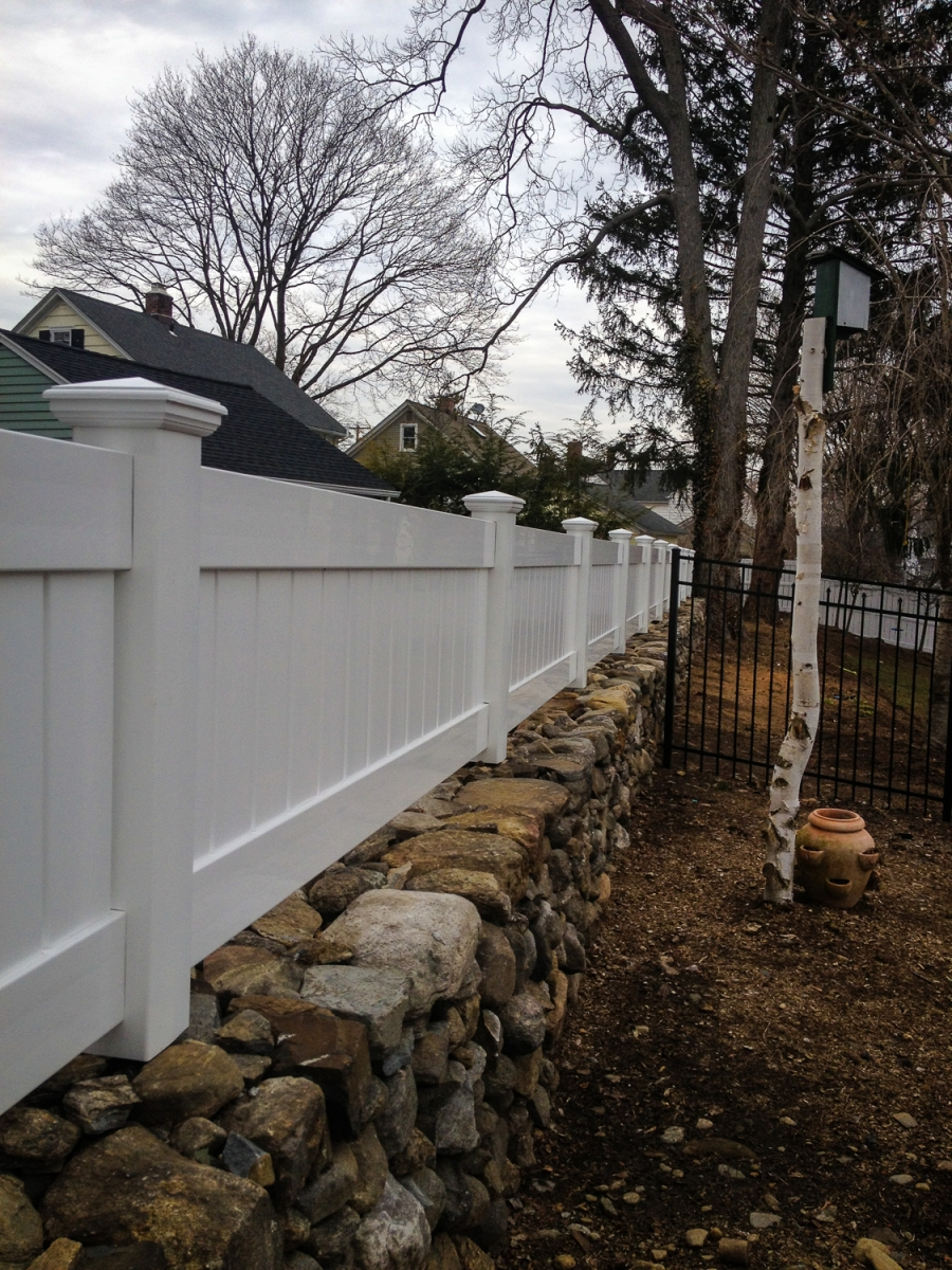 Completed Vinyl Fences Fencing In Ct Orange Fence Amp Supply