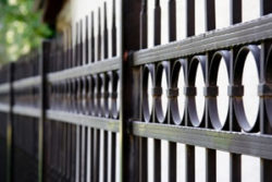 Custom metal fence design in Fairfield