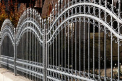 ornamental silver metal fence