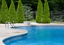 Decorative fence installed around Fairfield pool