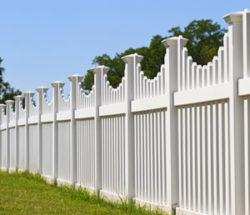 white PVC fence