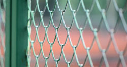 silver steel chain fence