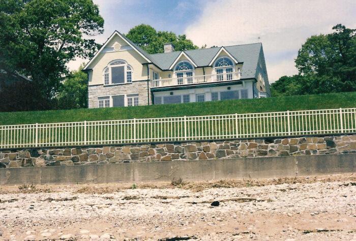 residential white aluminum fence